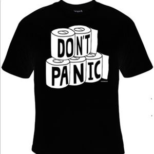 """Other - """"DON'T PANIC"""" graphic tee New"""